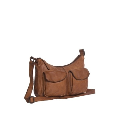 Leather Shoulder Bag Cognac Aria