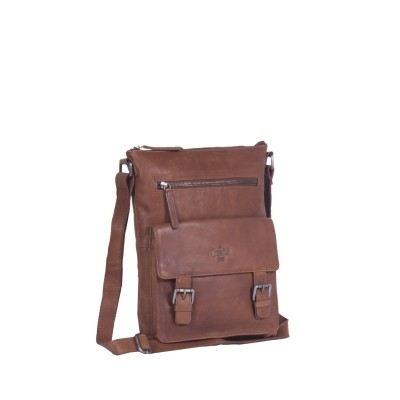 Leather Shoulder Bag Cognac Lucy
