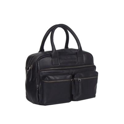Leather Shoulder Bag Black Ruben