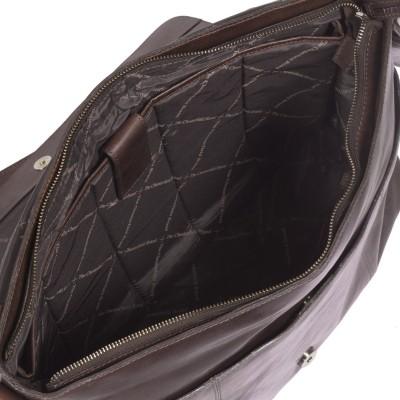 Photo of Leather Shoulder Bag Brown Maha