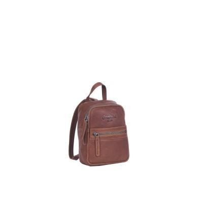 Leather Backpack Cognac Christina