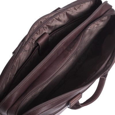 Photo of Leather Laptop Bag Brown Seth