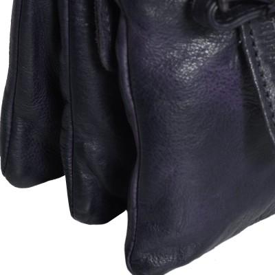 Photo of Leather Shoulder Bag Navy Erin