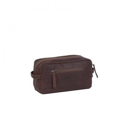 Photo of Leather Toiletry Brown Stacey