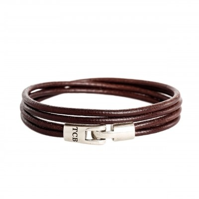 Photo of Leather Bracelet Brown Trusci