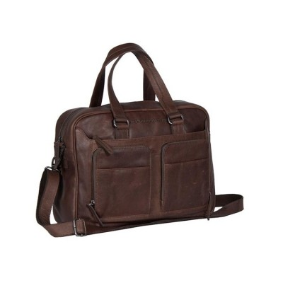 Leather Laptop Bag Brown Samual