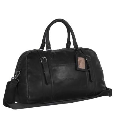 Leather Travelbag Black Avan