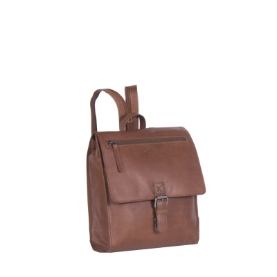 Leather Backpack Cognac Isa
