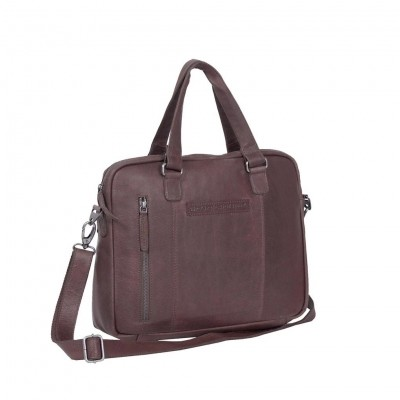 Photo of Leather Laptop Bag Brown Maria