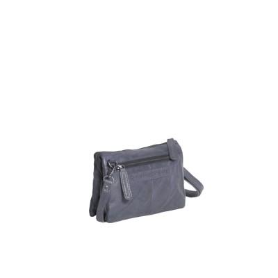 Photo of Leather Shoulder Bag Navy Ivy