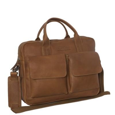 Photo of Leather Laptop Bag T8 Cognac Thomas Hayo