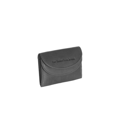 Leather Wallet Small Black Alma