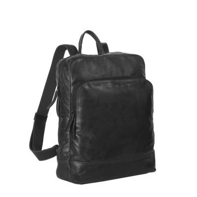 Leather Backpack Black Maci