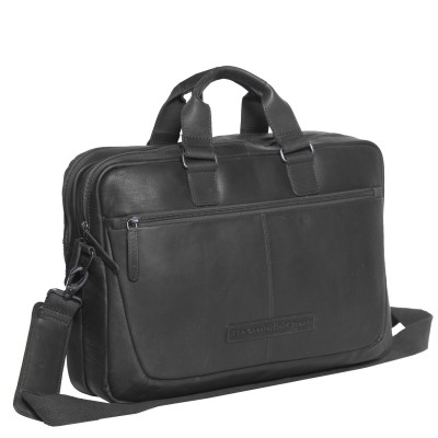 Photo of Leather Laptop Bag Black Seth