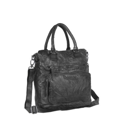 Photo of Leather Shopper Bag Black Romy