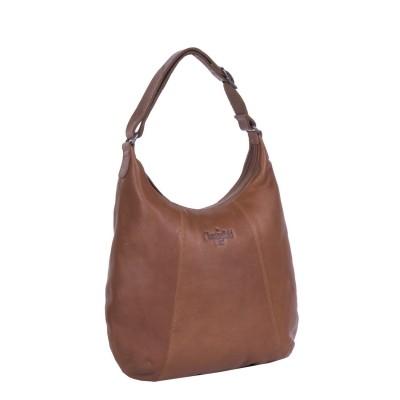 Photo of Leather Shoulder Bag Cognac Floor