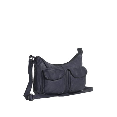 Photo of Leather Shoulder Bag Navy Aria