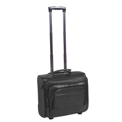 Leather Trolley Black Xavi