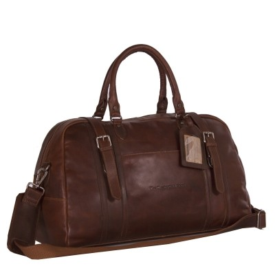 Leather Travelbag Dark Cognac Avan