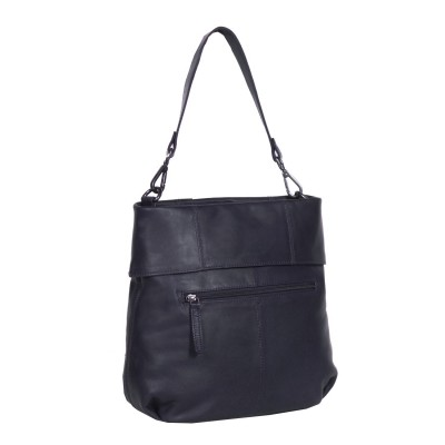 Photo of Leather Shoulder Bag Navy Maud