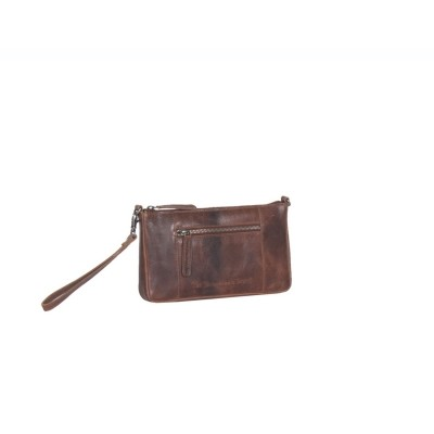 Photo of Leather Clutch Medium Cognac Verena