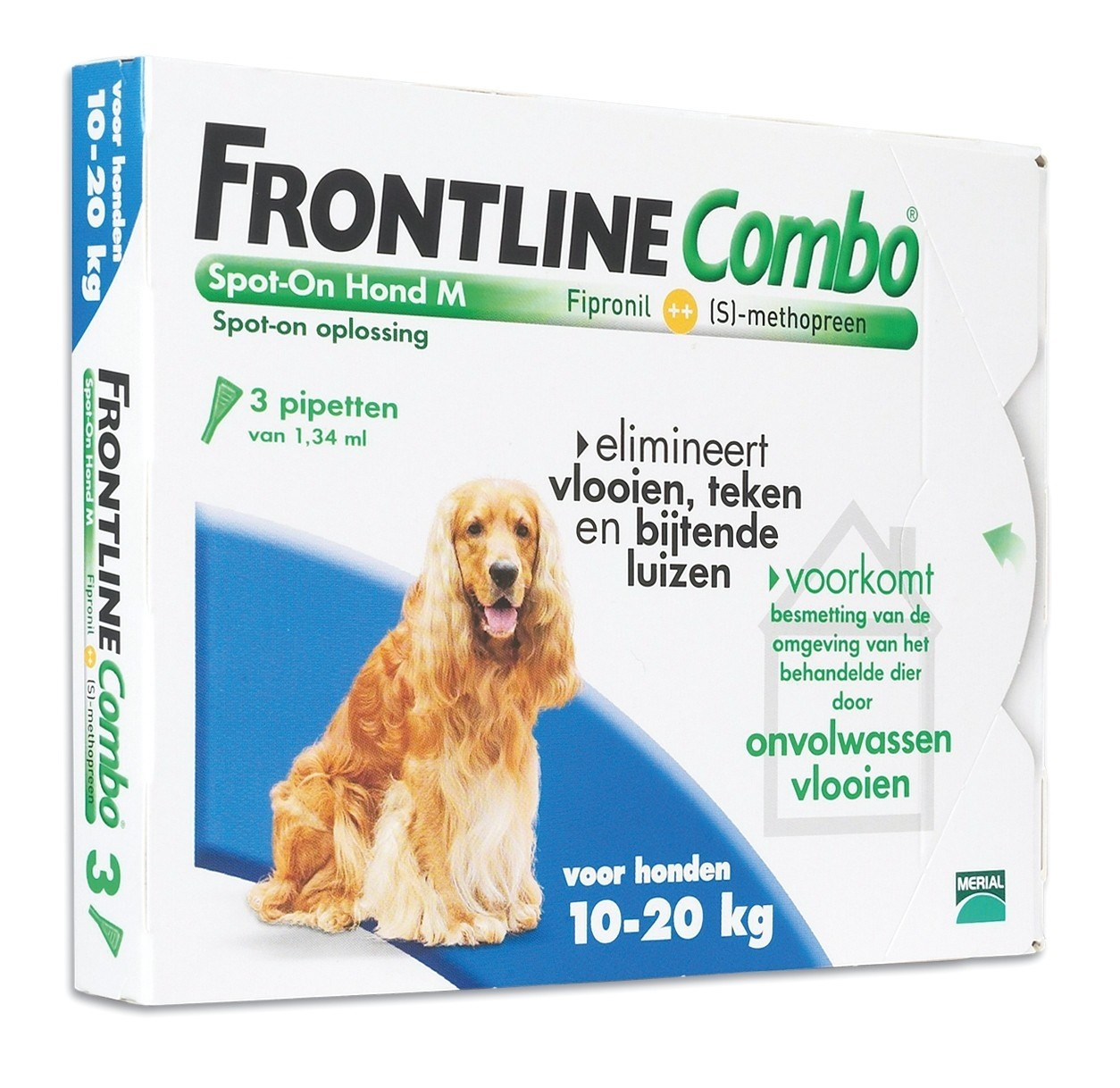 Frontline Combo spot on Hond Medium 10-20kg 3 pipet