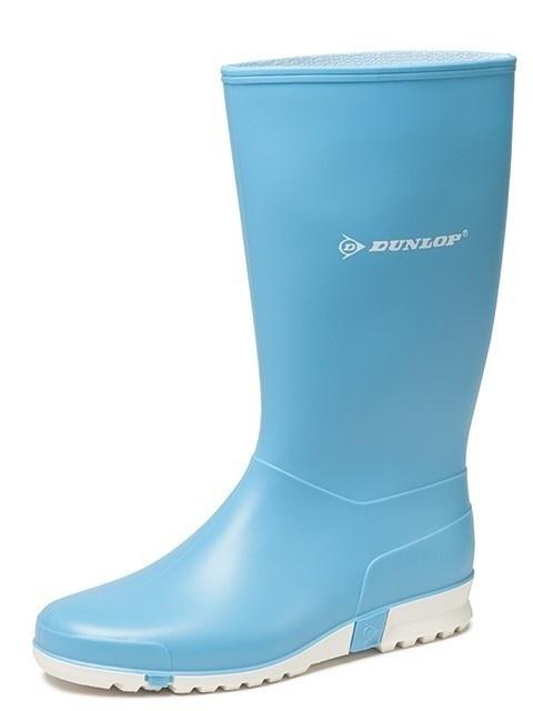 Dameslaars Dunlop PVC licht blauw