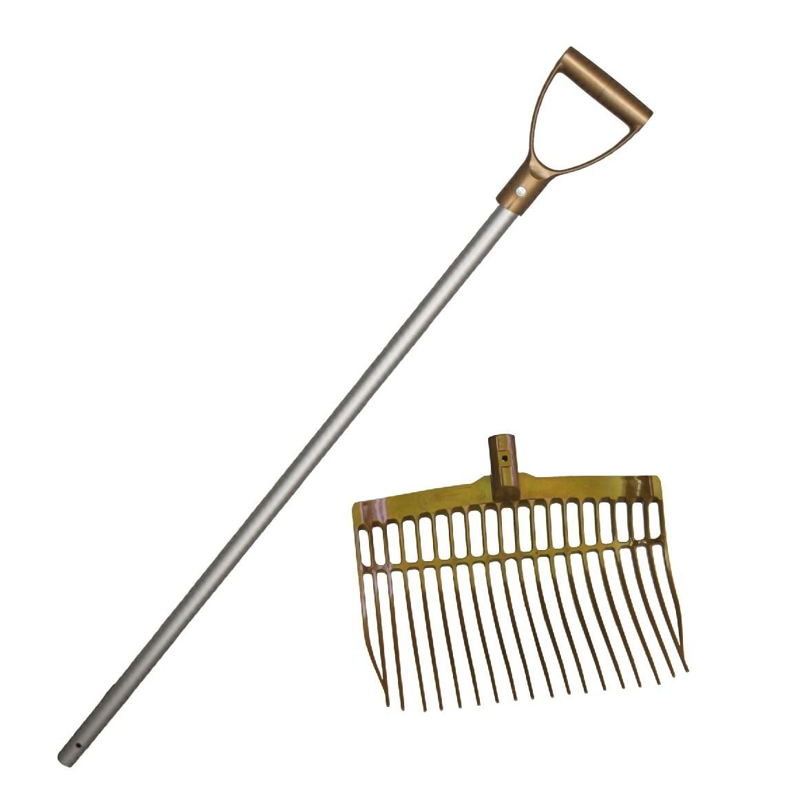 Mestvork / vijgenvork onbreekbaar gold met steel