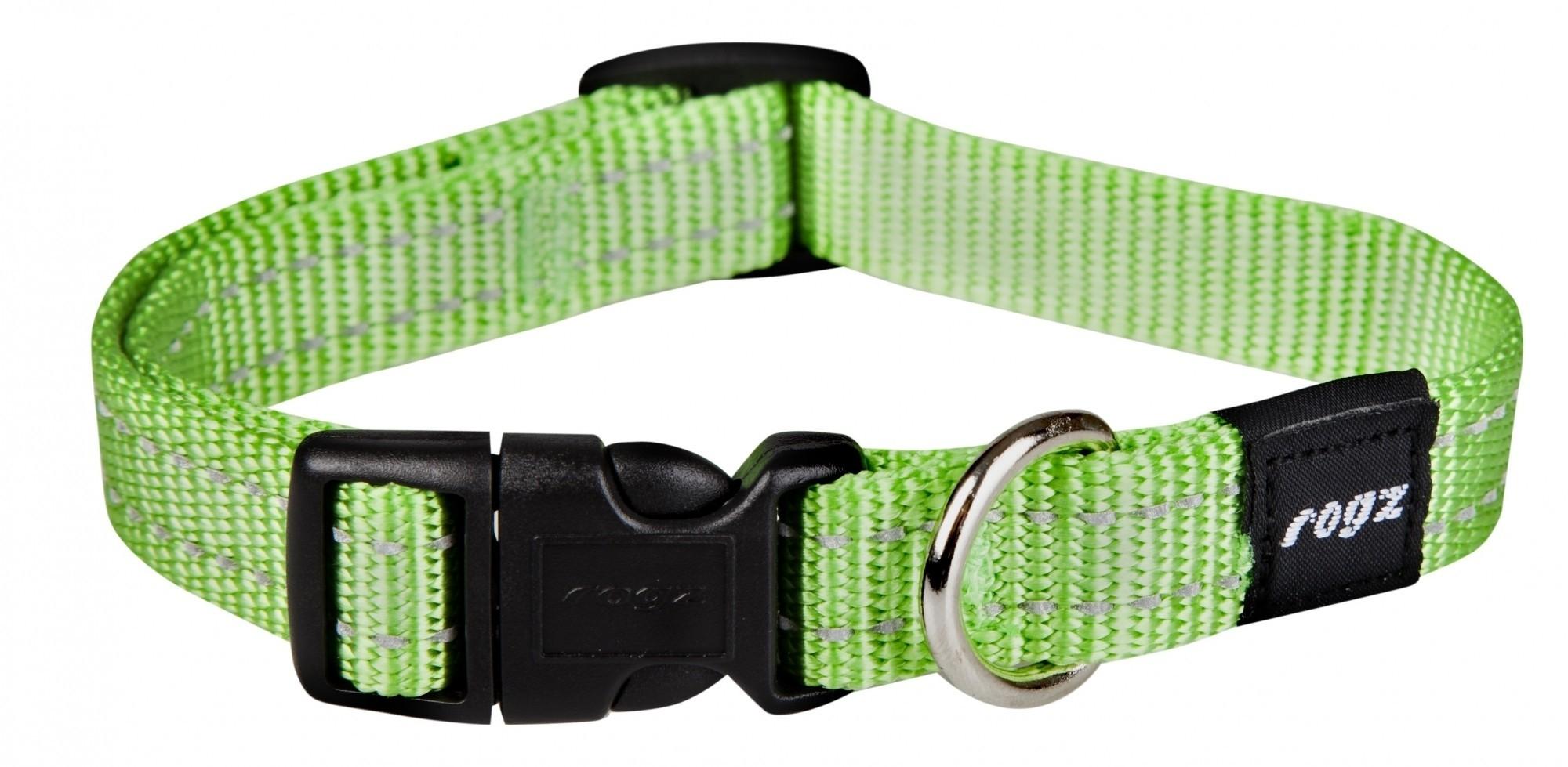 Rogz Snake halsband lime 16mm