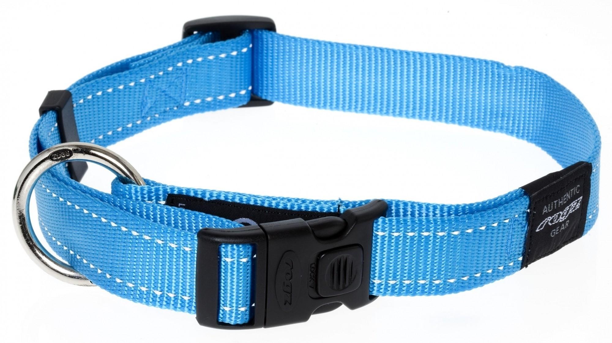 Rogz Lumberjack halsband turquoise 25mm
