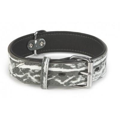 Leren halsband hond Beeztees Safari zwart 60X40