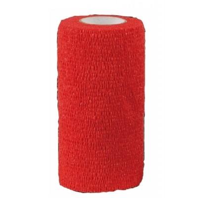 Zelfklevende bandage Equilastic 10cm rood