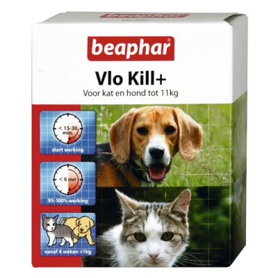 Beaphar vlo kill+ kat en hond tot 11 kg