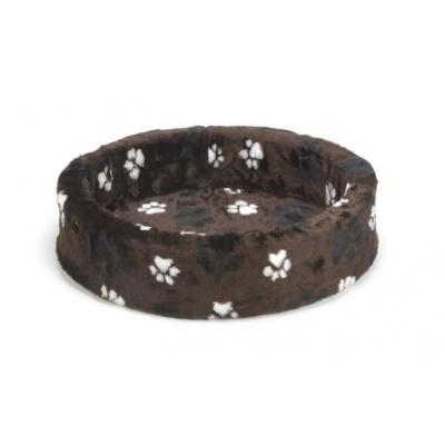 Foto van Beeztees hondenmand / teddymand voetprint bruin 60cm