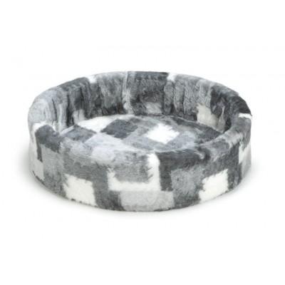 Foto van Beeztees hondenmand / teddymand grijs/wit 70cm