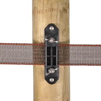 Foto van Gallagher TurboLine hoekisolator voor lint met vleugelmoer (5 stuks)