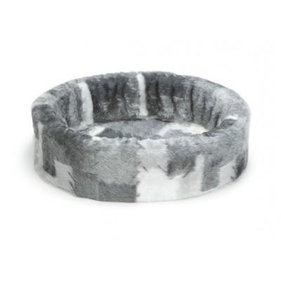 Foto van Beeztees hondenmand / teddymand grijs/wit 50cm