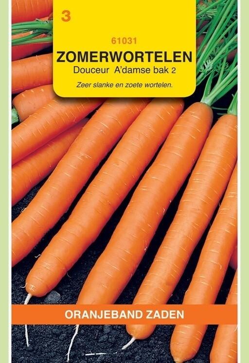 Zomerwortelen Amsterdamse Bak 2 Douceur Oranjeband