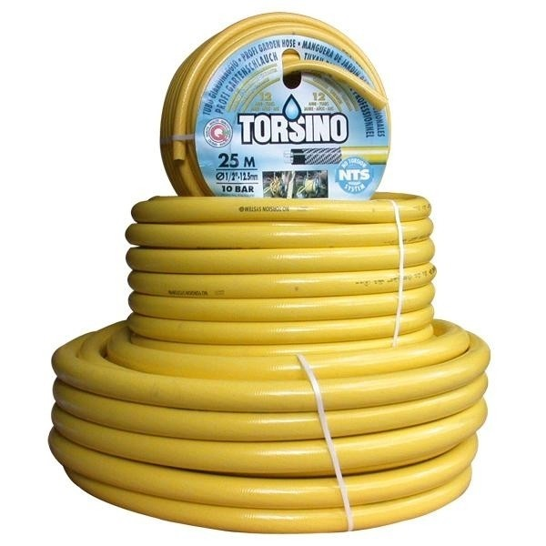 Waterslang / tuinslang Torsino geel 12.5mm (1/2 inch) 25mtr