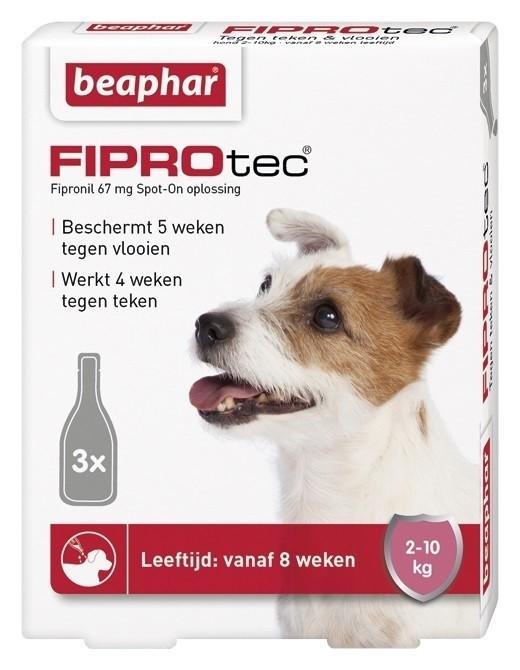 Beaphar Fiprotec hond vlooien/teken 2-10kg 3 pipet