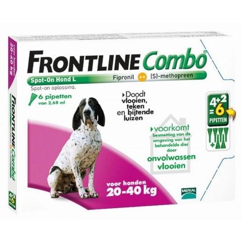 Frontline Combo spot on Hond Large 20-40kg 6 pipet
