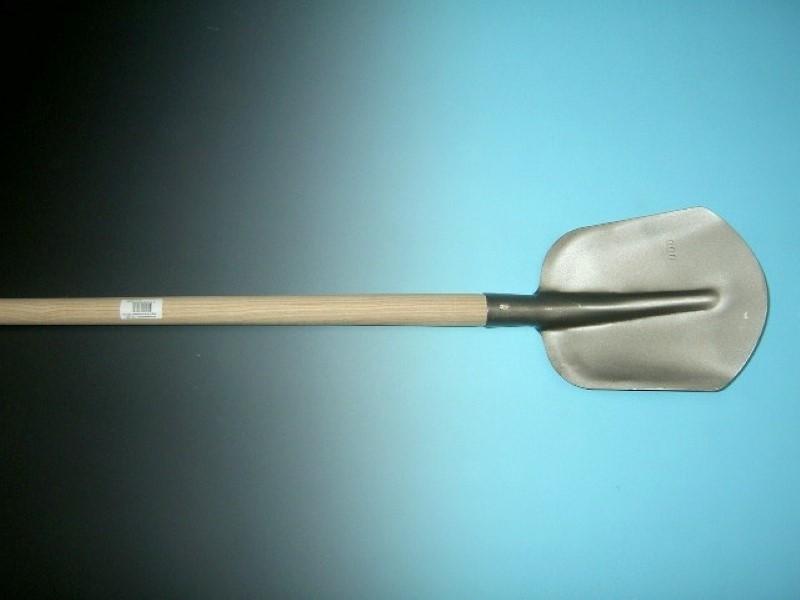Steekbats 1/4 00, grijs gelakt met essen PE schopsteel 100 cm