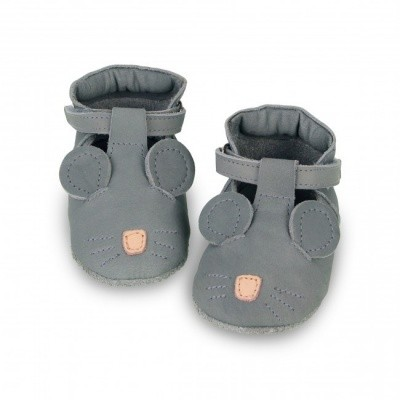 Foto van Donsje handmade leather shoes spark Velcro Mouse