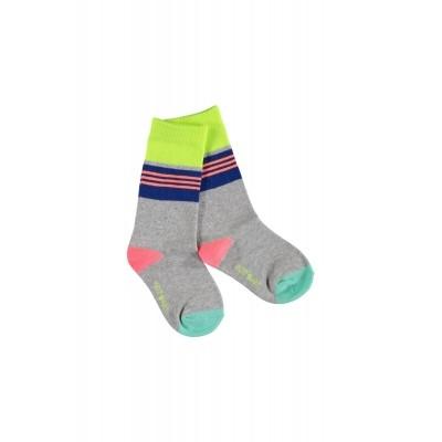 Foto van Kidz-art high knee socks stripes grey Melee