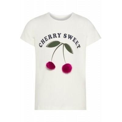 Foto van Name it girls shirt Cherry sweet white