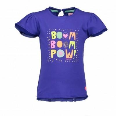 Foto van Kidz-art shirt boom boom pow blauw
