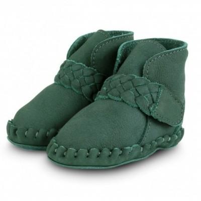 Foto van Donsje handmade leather shoe mace Amazon Nubuck