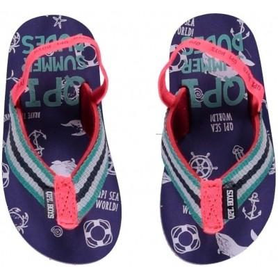 Quapi baby boy slipper Jelmar jeans blue seaworld