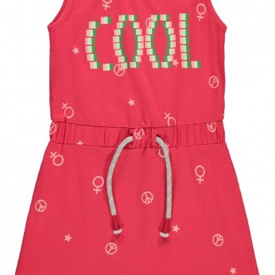 Foto van Name it slim fit dress Cool red