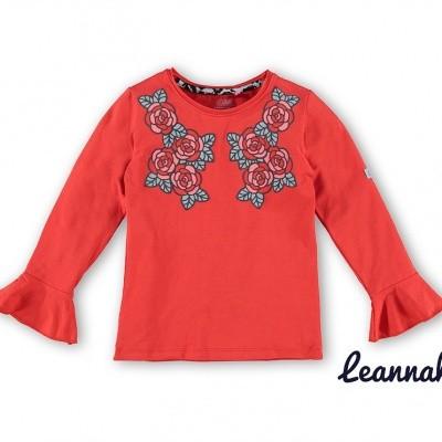 Foto van O chill longsleeve Leannah rood shirt met rozen print